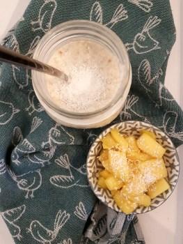 kokos overnight oats met mango