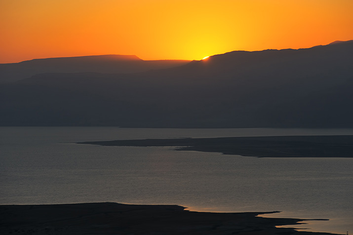 The Dead Sea before dawn