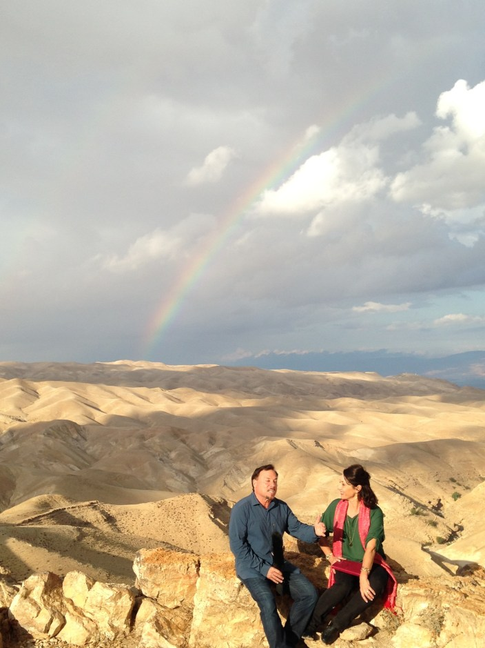 God released a kiss from heaven as we taught on the edge of the Judean desert