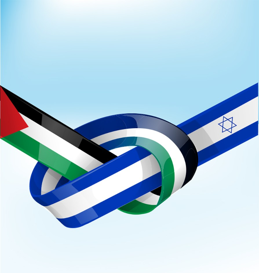 israel palestine flags for peace