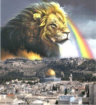 jesus-lion-in-israel-jesus rainbow Jerusalem