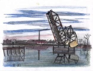 "Waiting for demolition at the ""Little Annie Bridge"""