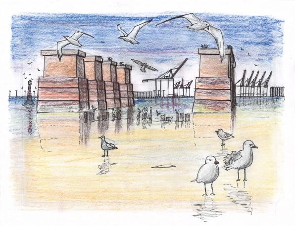 Industial beachhead at Port Newark