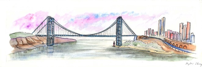 George Washington Bridge from Riverside State Park