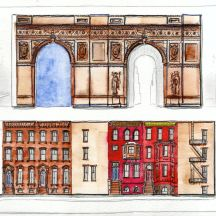 Arch & Brownstones
