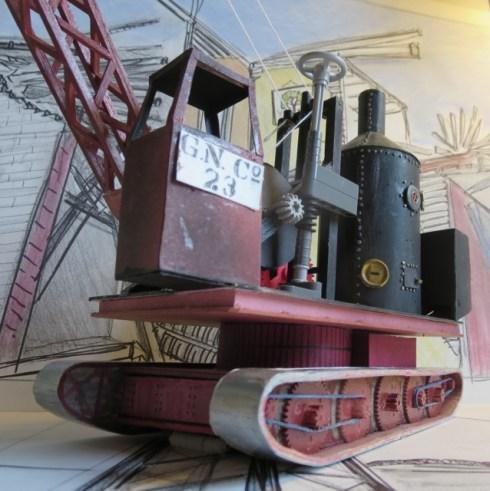 Steam operated crane
