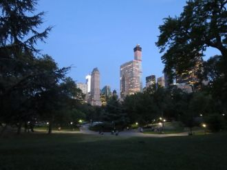 Wollman Rink toward Midtown