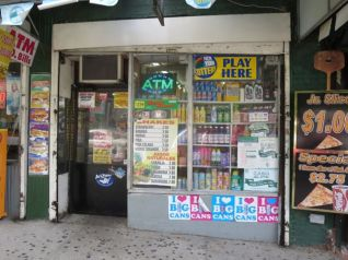 Boudega sells ice cream, cigarettes, and chewing gum at 190th Street and Broadway.