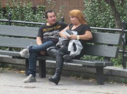 Latino couple in South Bronx