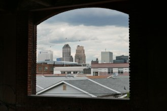 View from factory to Downtown Newark