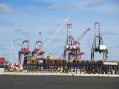 Container Cranes at Rest