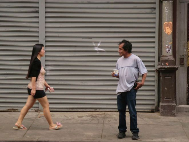 Watching women on Broome Street