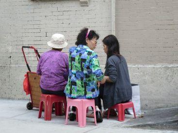 Mulberry Street fortune teller (center)