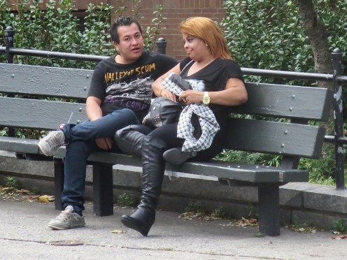 """South Bronx: his shirt reads, """"Valley of scum. Here I come."""""""