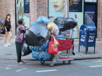 Trash collector on Mulberry Street