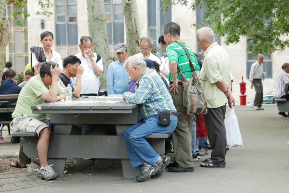 Cardplayers in Chinatown