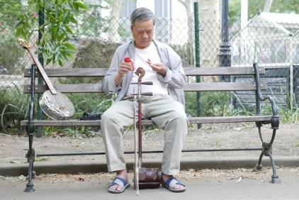 Musician in Columbus Park, Chinatown