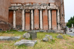 Roman columns abut the Church of San Nicola in Carcere.