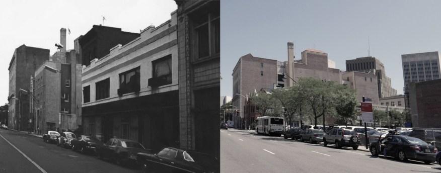 Washington Street between Bleecker & Central Avenue in 1978, demolished by Edison Parking