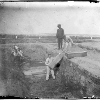 1890s burial at Hart's Island (Jacob Riis photographer)