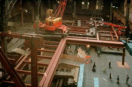 Frame of new Penn Station rises simultaneous to the demolition of the old c.1963-68.