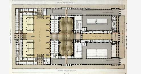Plan of Old Penn Station