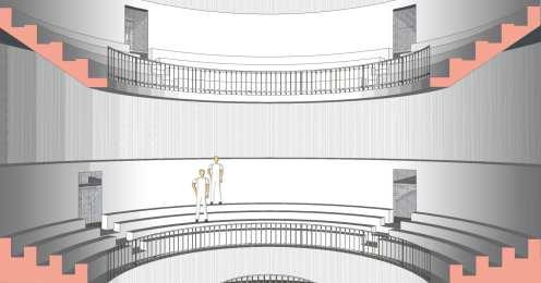 Rotunda with blinds closed
