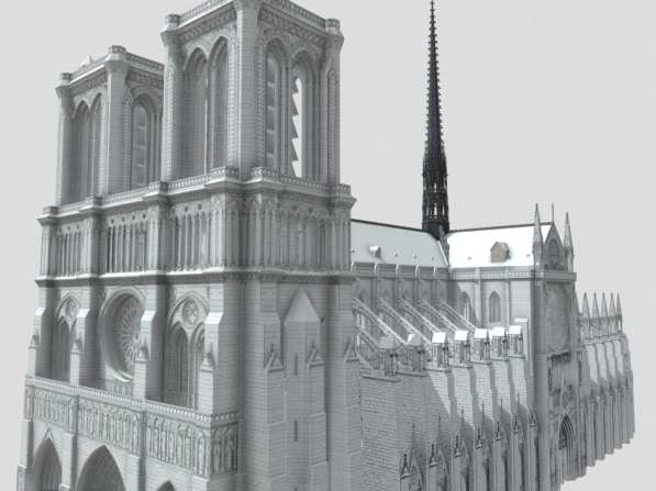 Notre-Dame West Facade and South Facade