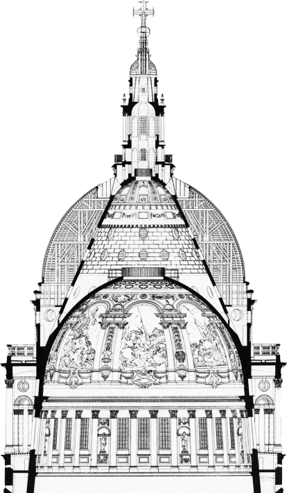 Saint Paul's Cross Section of Dome