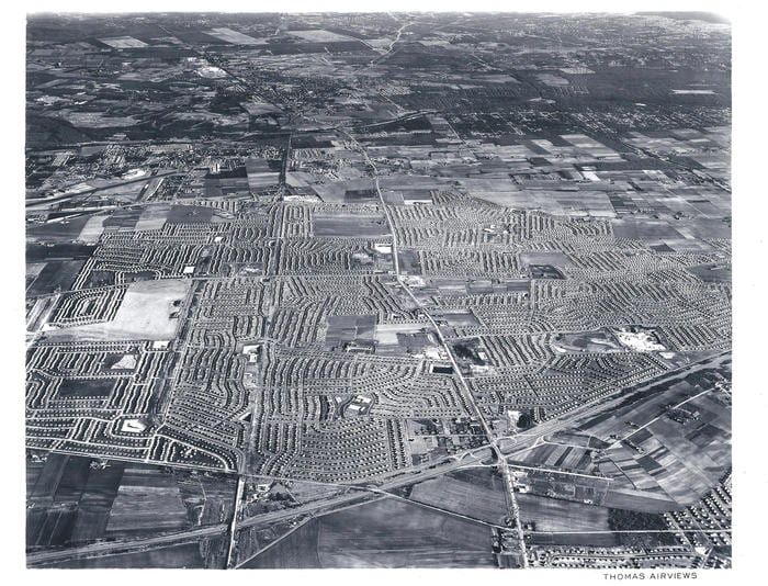 Levittown New York Aerial View