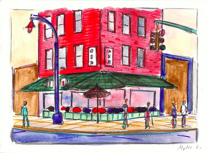 Corner of Mulberry Street and Bayard Street