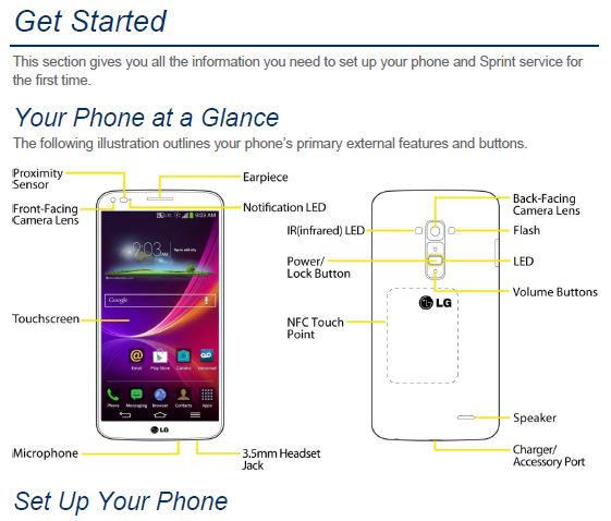 Sprint LG G Flex User manual / Guide - My LG Cell Phones