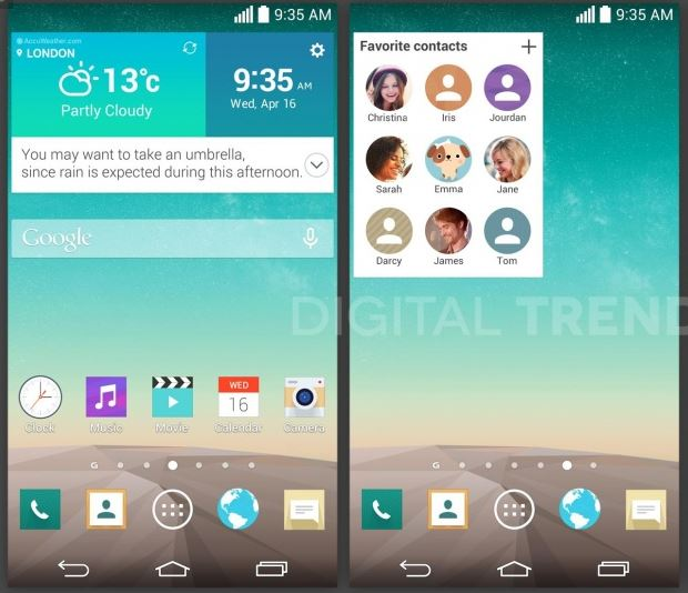 LG Concierge-Board, G-Board and Favorite Contacts Apps confirmed in leaked LG G3 UI.