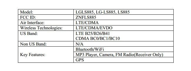 LG LS885 (A possible G3 mini variant) Approved By FCC