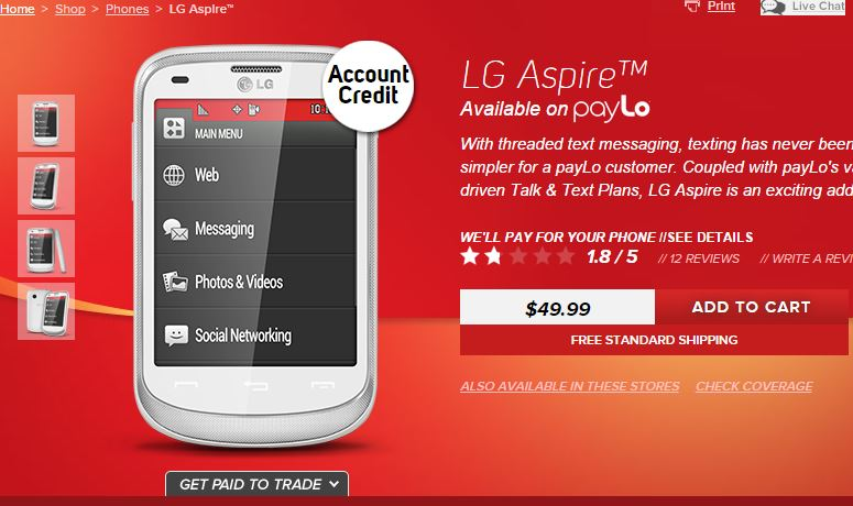 LG Aspire (LN280) now available from Virgin Mobile
