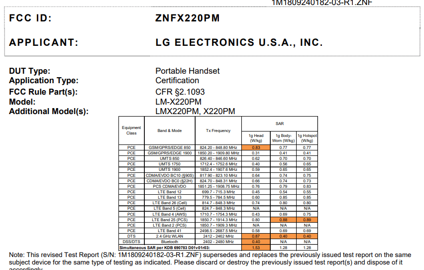 LG Tribute Empire X220PM for Sprint Approved by the FCC