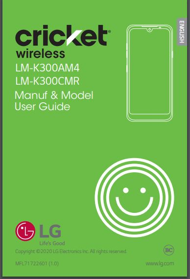 AT&T GoPhone LG LMK300AM User Manual / Guide