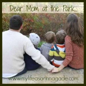 mom at the park via my life as a rinnagade