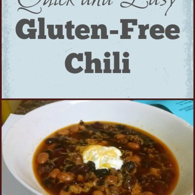 Quick and Easy Gluten-Free Chili