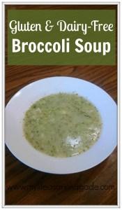 Gluten & dairy-free broccoli soup via My Life as a Rinnagade