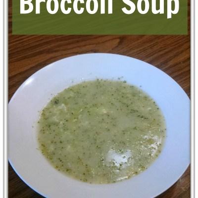 Gluten & Dairy-Free Broccoli Soup