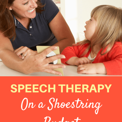 Speech Therapy on a Shoestring Budget