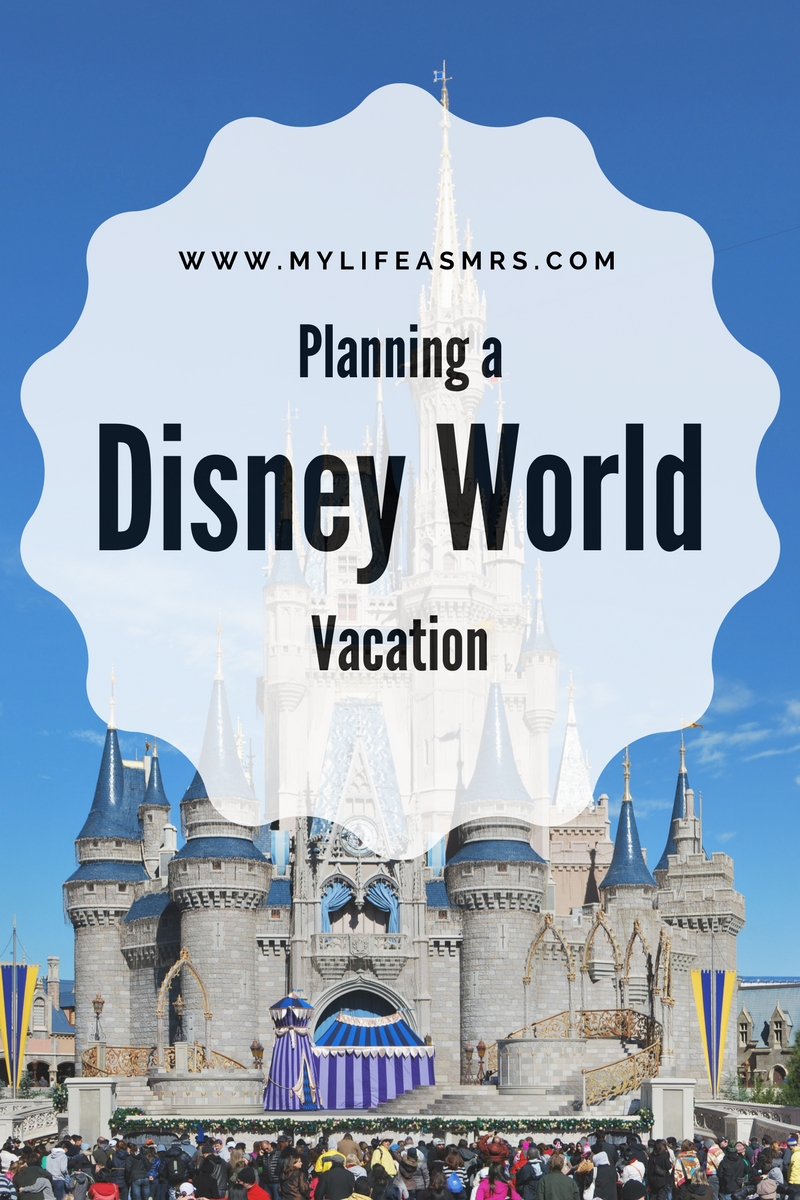 Planning a Disney World Vacation Graphic