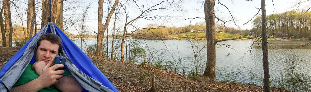 Hammock in Centennial Park, Maryland