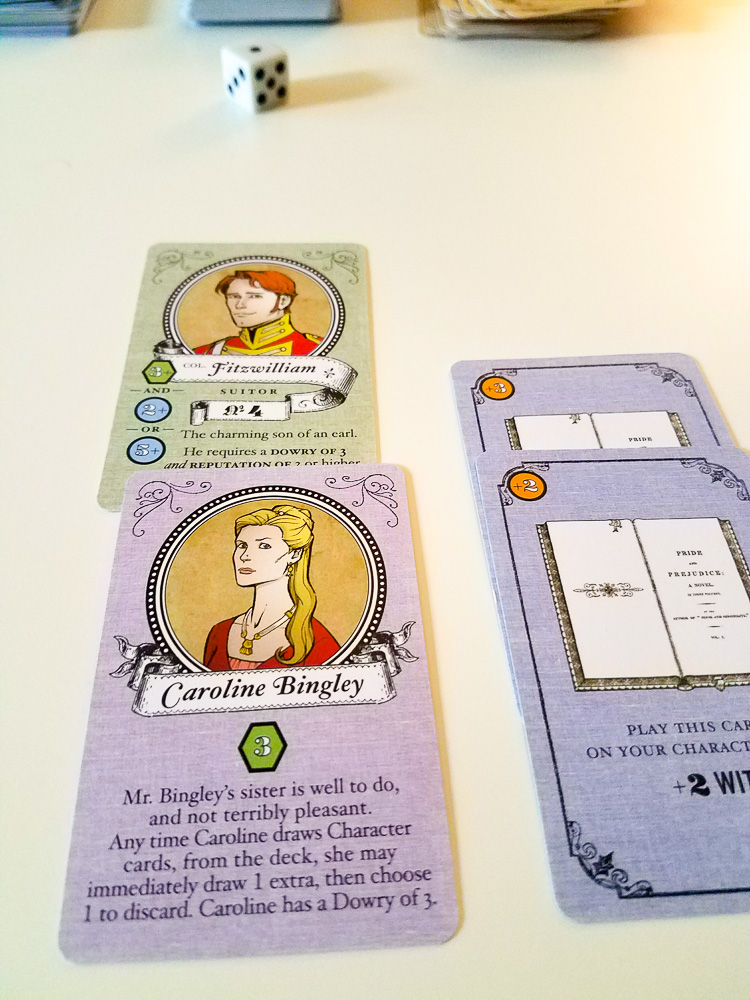 Marrying Mr Darcy Game cards and pieces