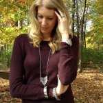 Shoulder Zip Sweater & Strappy Heels