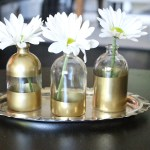 DIY Gold Dipped Bud Vases