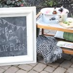 DIY Farmhouse Chalkboard & Metallic Knob Magnets