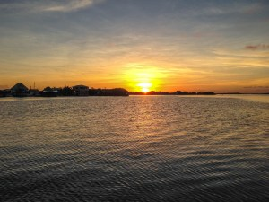 sunset Belize
