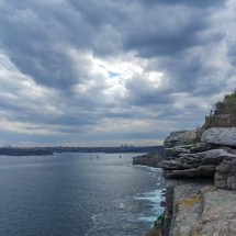 Manly north head view cliffs